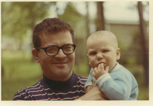 With his son Paul, 1970