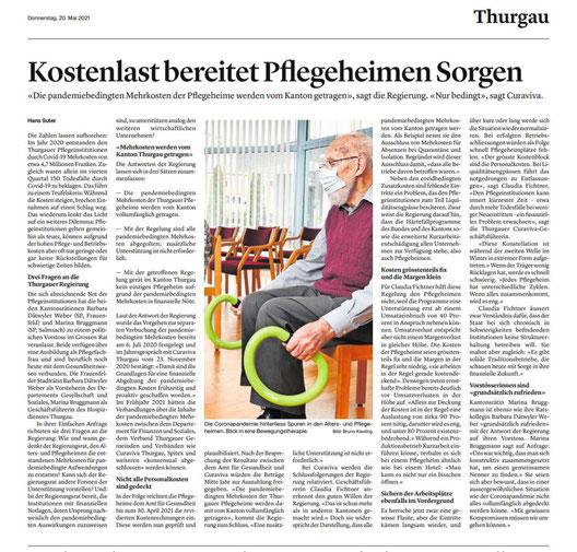 Bericht Thurgauer Zeitung 20.05.2021