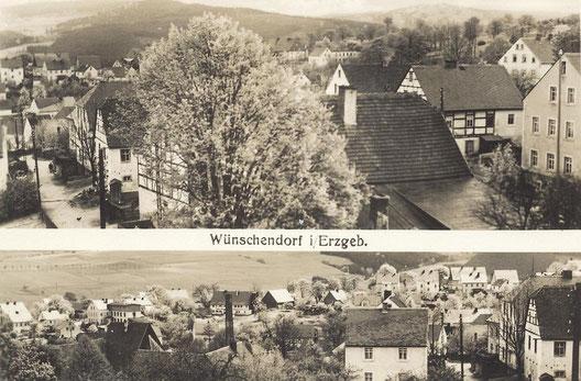 Bild: Wünschendorf Erzgebirge Postkarte