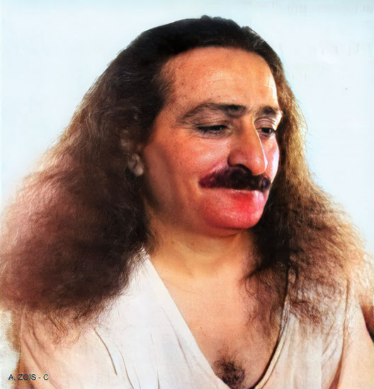 7B. May 15, 1936 - Meher Baba at Meherabad, India.  Trimmed image