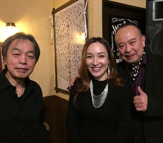 田中裕士さん(P)バンド⭐️ 宮野弘紀さん(G)KOKORO(Fl)