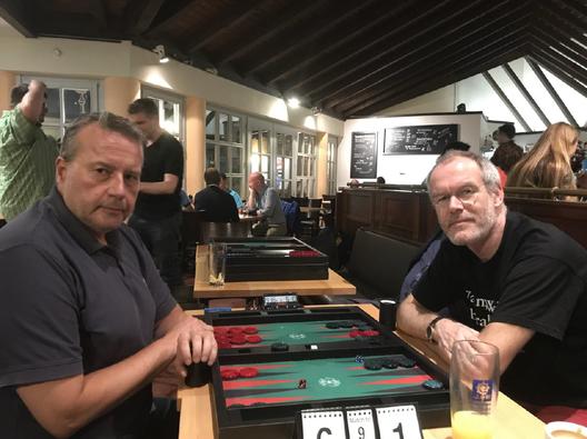 Turniersieger Jan Cerny (links) im Finale gegen Axel Reichert