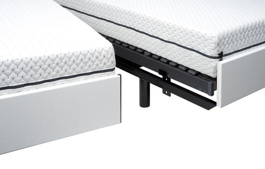 Op deze afbeelding ziet u het ledikant Bolero. Bij een deelbare bedbak is het hoofdeind gelijk aan het voetbord.  De foto van de deelbare bedbak Bolero volgt.