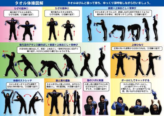 今回のタオル体操を解説したパンフレット(中身)