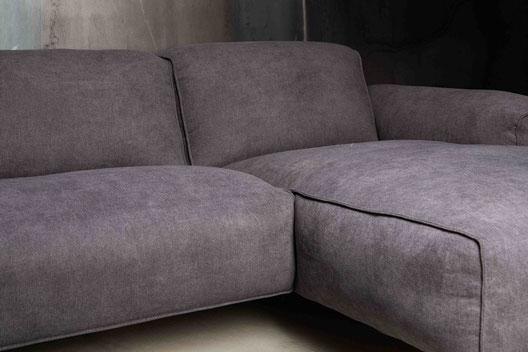 MÖBELLOFT HIMMEL Sofa mit zeitlos dunkelgrauem Bezug