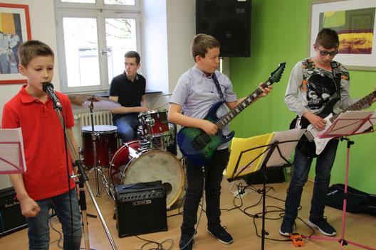 Schülerrockband der Musikschule