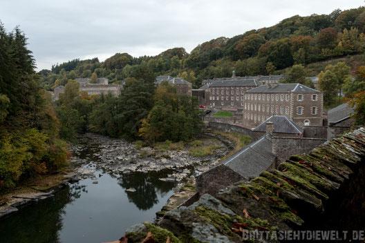 New,Lanark,Weltkulturerbe,Textilfabrik,Schottland,Baumwollspinnerei,falls,of,clyde