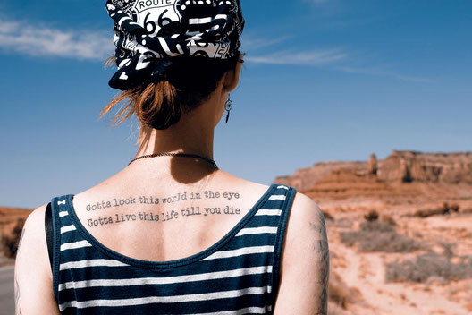 Tattoos, lonelyroadlover, warum ich Tattoos besitze, Monument Valley, Travelblogger