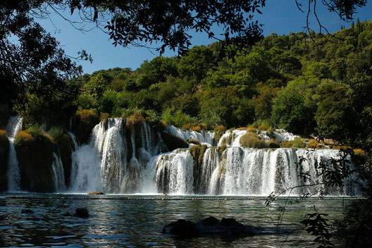 Waterfalls Krka National Park, nature in Croatia