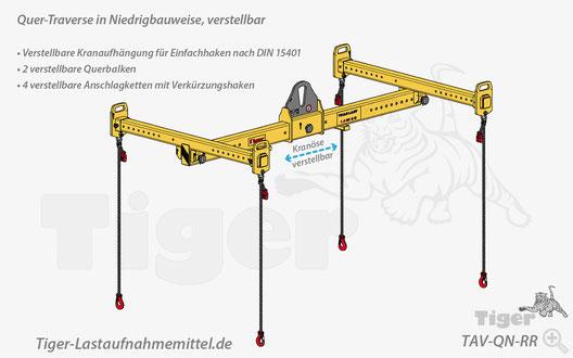 Quertraverse - Kran- und Staplerbetrieb