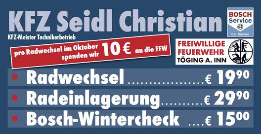 KFZ Seidl Christian, Weichselstraße 20, 84513 Töging a. Inn - 08631 1674666