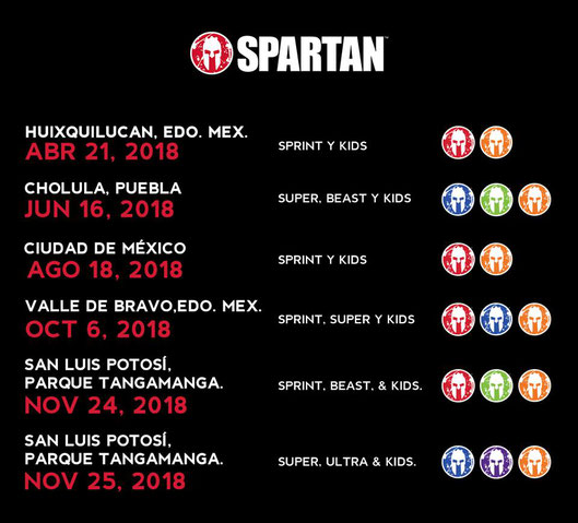 Carreras De Obstaculos Calendario.El Serial Spartan Race 2018 Sera Espectacular Vivo