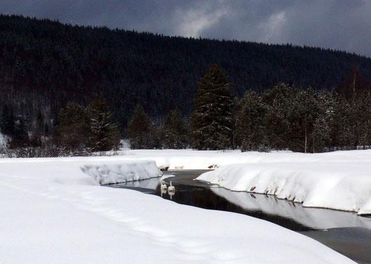 L'Orbe supérieure, entre la frontière franco-suisse et le Lac de Joux