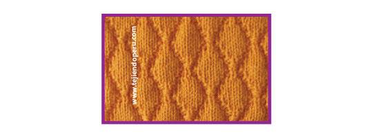 Punto fantasía texturado tejido en dos agujas o palitos