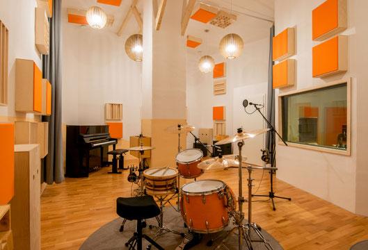 Studioraum des Tonstudios die Klangstube
