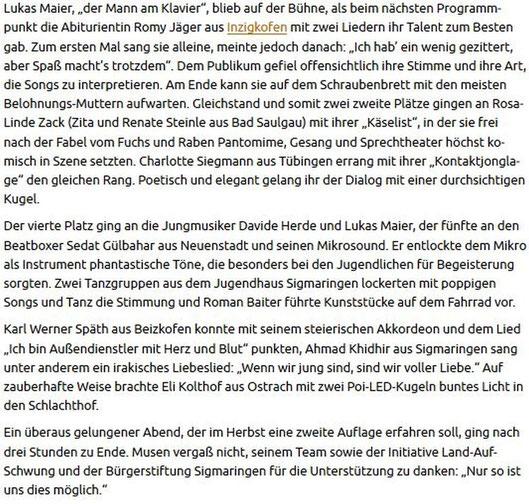 Schwäbische Zeitung -22.01-2017-