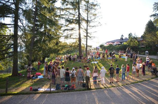 Alpenschamanentreff Untersberg und seine Hüter Kraftplatz Wolfschwangalm