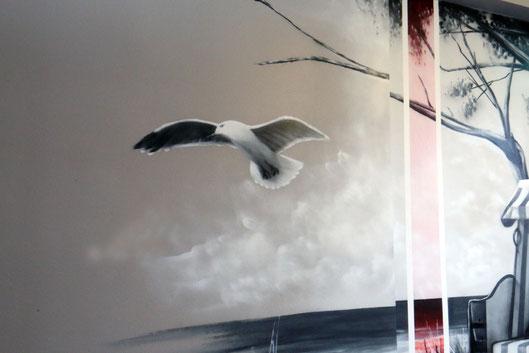 Graffiti kunst und Künstler gestalten die Büros von vbz berlin