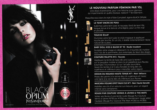 2015 - DOUBLE CARTE BLACK OPIUM - PRESENTEE OUVERTE