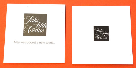 SAKS FIFTH AVENUE : 2 CARTES DIFFERENTES