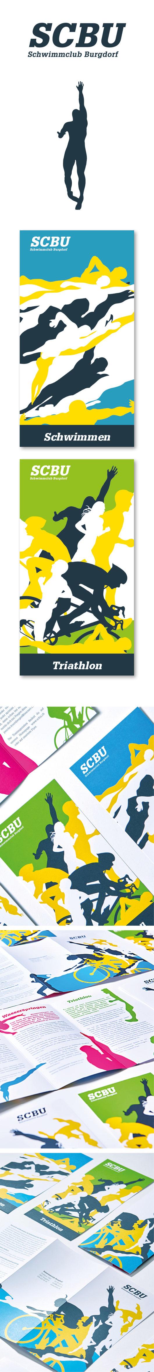 Branding: Prospekt- und Flyergestaltung Schwimmclub Burgdorf  | Layout, Grafik und Illustration by Lockedesign 2015