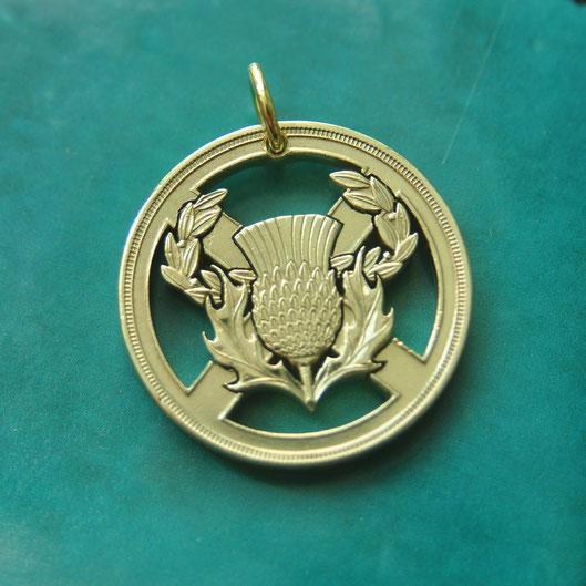 Münzsägewerk Katrin Thull   Großbritannien - Schottische Distel