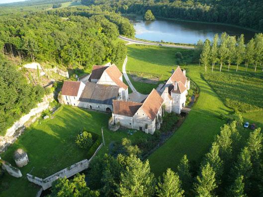 Vue aérienne de la Corroierie - chambres d'hôtes en Indre et Loire