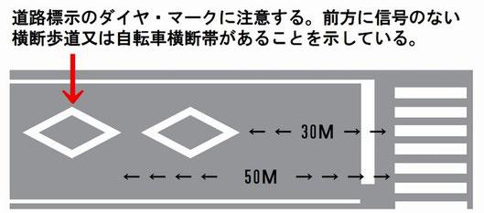 ダイヤマークは横断歩道あり