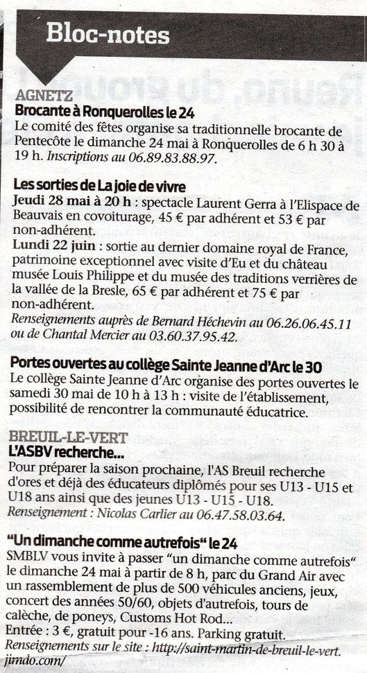 20 mai 2015 - Le Bonhomme Picard - Un dimanche comme Autrefois