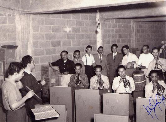 Daniel y la Orq. de Aldemaro Romero - Caracas, 1950.