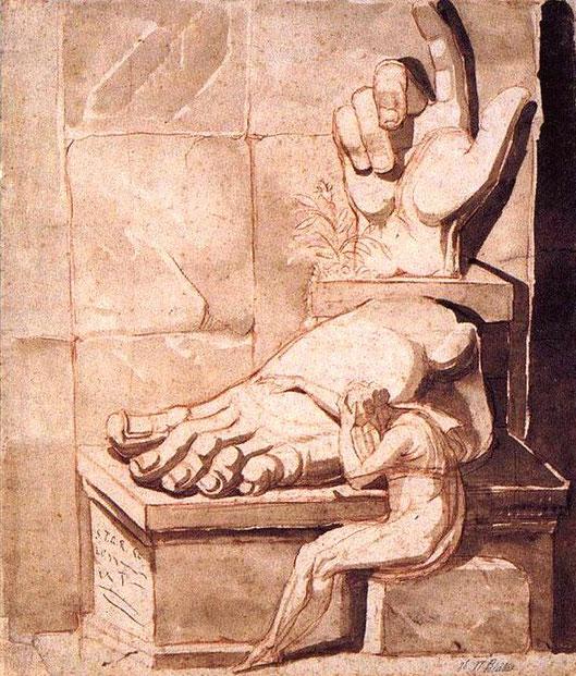 """Johann Heinrich Füssli, """"La disperazione dell'artista davanti alla grandezza delle rovine antiche"""", 1778-1780 circa (Zurigo, Kunsthaus)"""