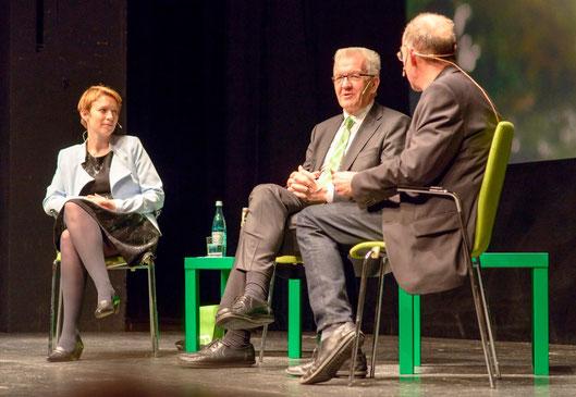 Gespräch mit Ministerpräsident Winfried Kretschmann und der Esslinger Grünen-Abgeordneten Andrea Lindlohr