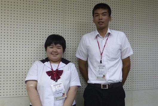 左から 切金唯希さん、後藤優太さん(3年)