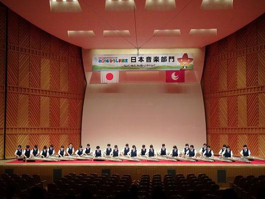 全国大会リハーサル演奏風景(広島県福山市)