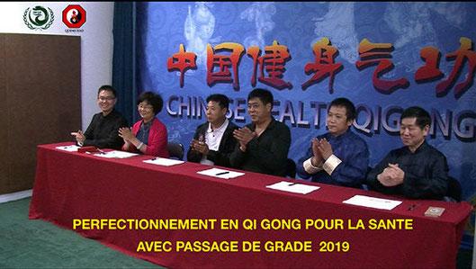 Passage de grades duans au Quimetao à Paris avec le Dr Jian Liujun.