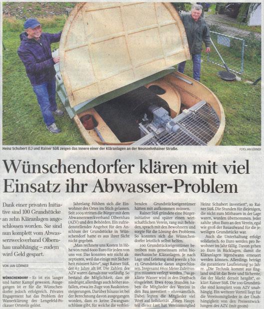 Bild: Wünschendorf Abwasserverein Süß