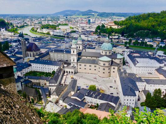 Blick auf Salzburg Österreich