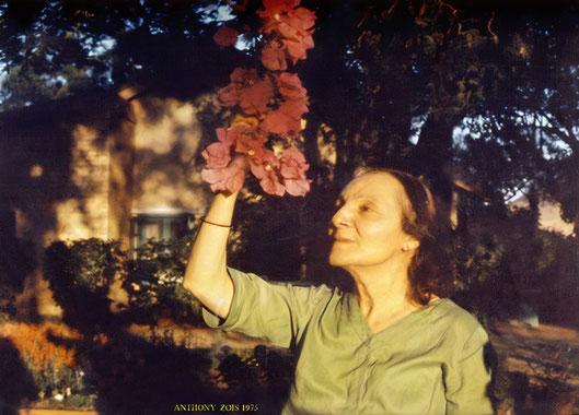 Mehera in her garden at Meherazad - 1975