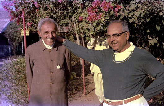 Feram ( L ) with Bhau Kalchuri ; photo taken by David Fenster