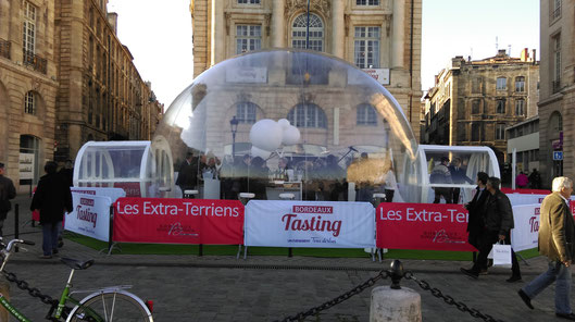 Burbuja efímera, Plaza de la Bolsa, Burdeos