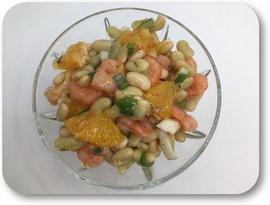 salade flageolet crevette