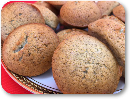 financiers à la farine de lentilles vertes
