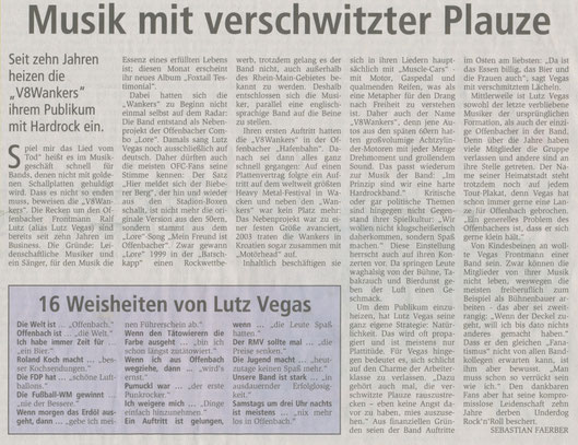 Offenbach Post,  April 2010