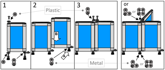 Assembly of partitions