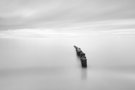 Ostsee, Baltic Sea, Ahrenshoop, Langzeitbelichtung, longexposure, schwarz-weiß, Minimalismus, minimalism, minimalist, minimalistisch, Holger Nimtz, Kunst, fine art, fotokunst,