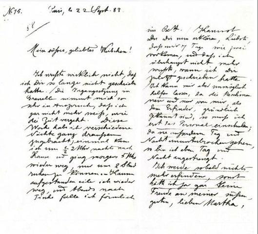 Bild 7: Schriftprobe von Rudolf Diesel mit 25  1/2 Jahren