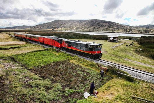 Reisen mit der Eisenbahn durch die Anden Perus und Ecuador