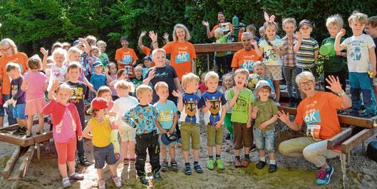 Im vergangenen Jahr beteiligte sich auch der Kindergarten Schenefeld an dem Lauf.