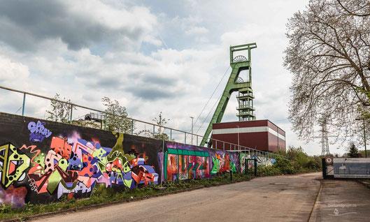 Bergwerk Zeche Amalie, Essen, Ruhrgebiet, Fördergerüst, Industriekultur, Industrie, Zechen, Bergbau, Steinkohle