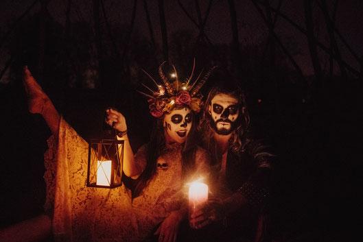 Dias de los muertes Belgium Ghent couple photographer photoshoot Halloween
